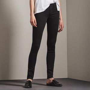 "AG ""The Legging"" Super Skinny Fit Black Jeans"